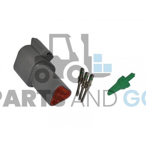 3-way male connector kit