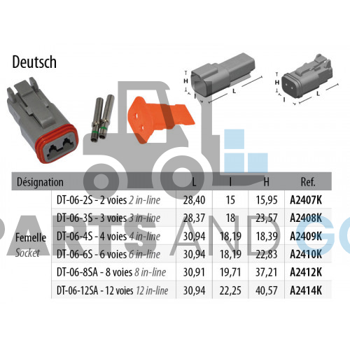 2-way female connector kit