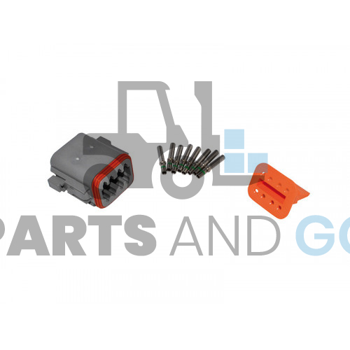 8-way female connector kit