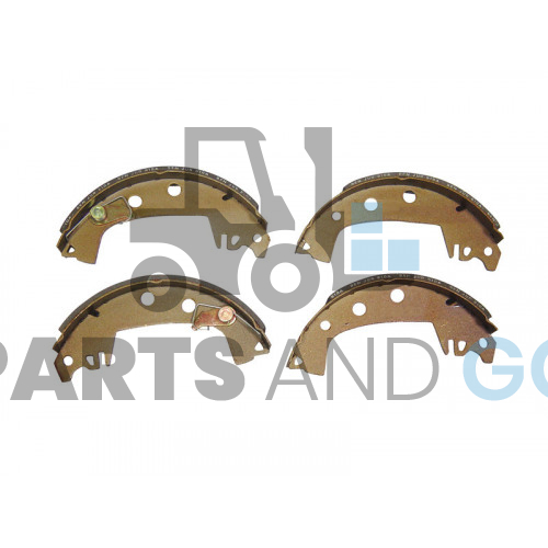 kit 4 brake shoes